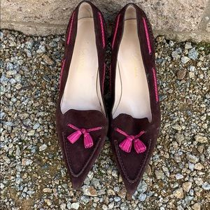 Cole Haan collection  brown/pink tassled pump
